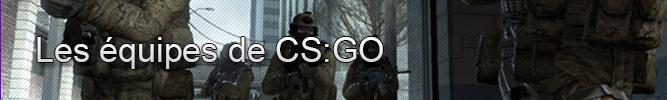 Les équipes de CS:GO