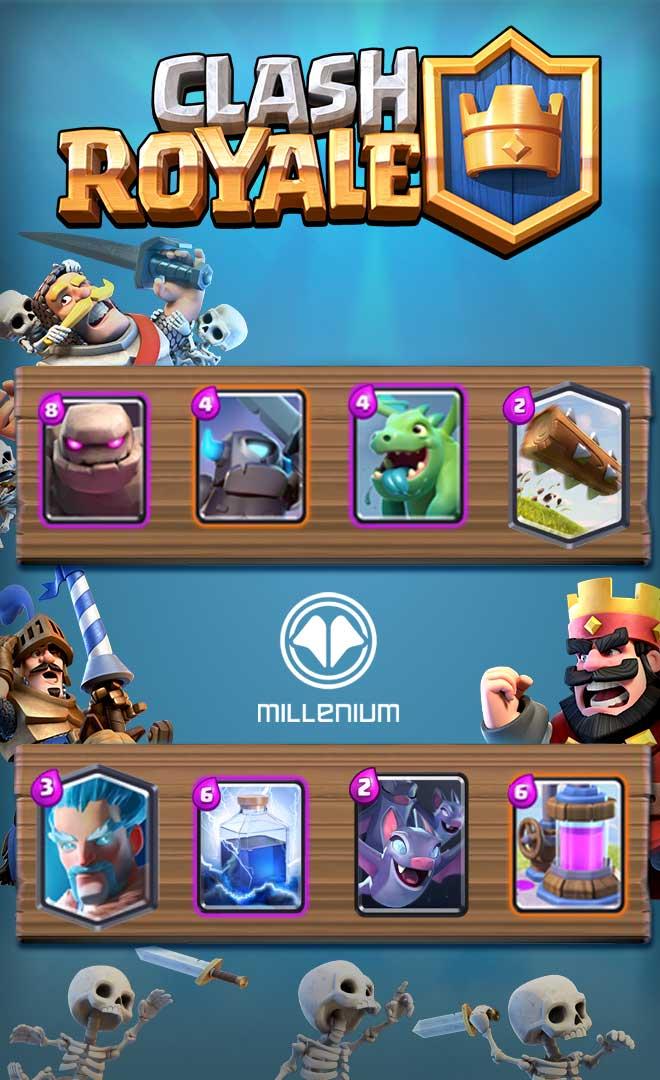 Deck golem foudre ar ne 8 millenium for Deck clash royale sorcier de glace