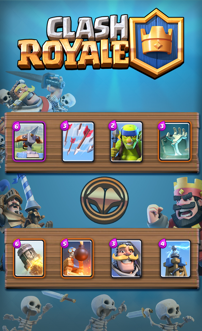 Deck d fensif arc x clash royal millenium for Clash royale deck arc x