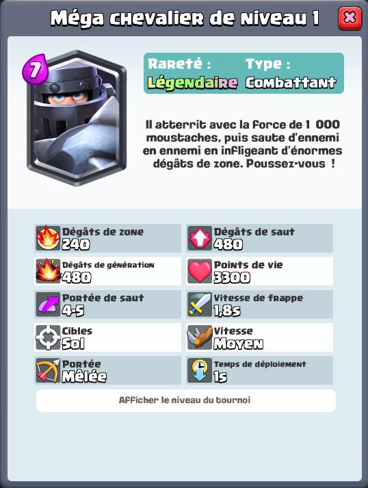 Clash Royal Défi Du Méga Chevalier Millenium