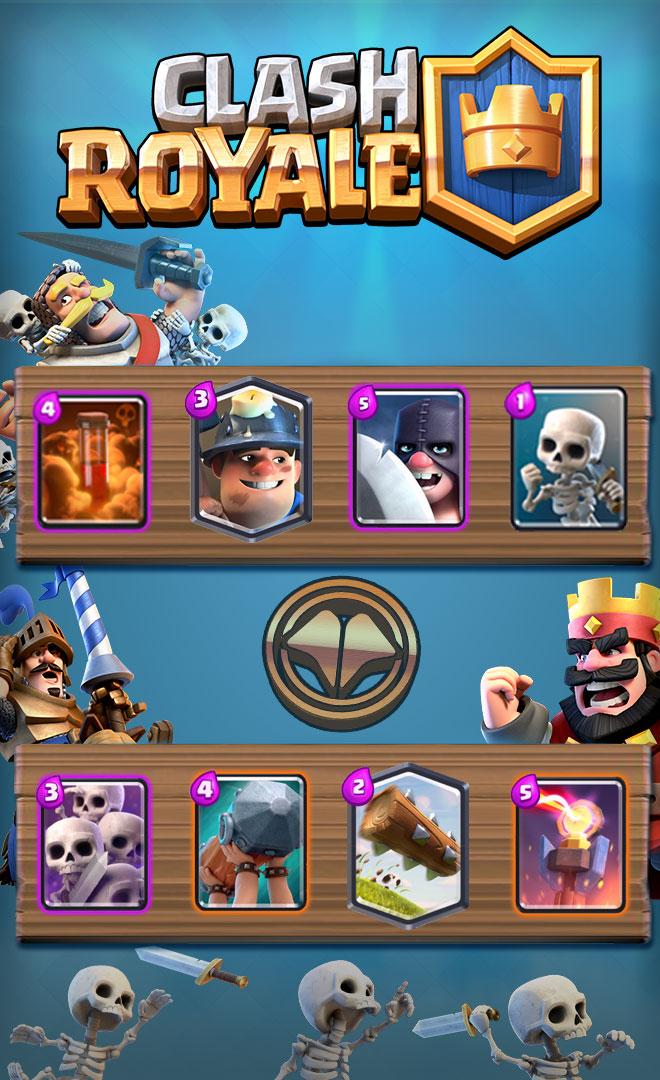 meilleur deck, clash royale, défi, mineur