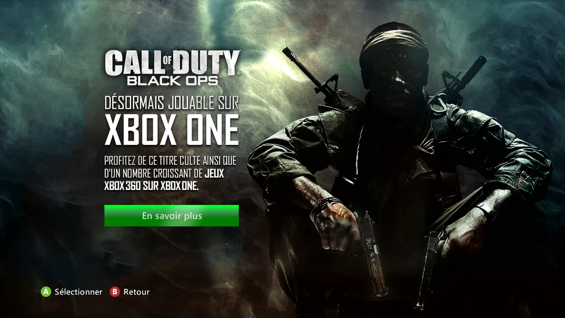 how to play bo1 on xbox one