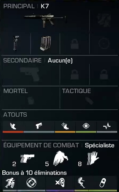 K7 meilleure classe SMG Call of Duty Ghosts