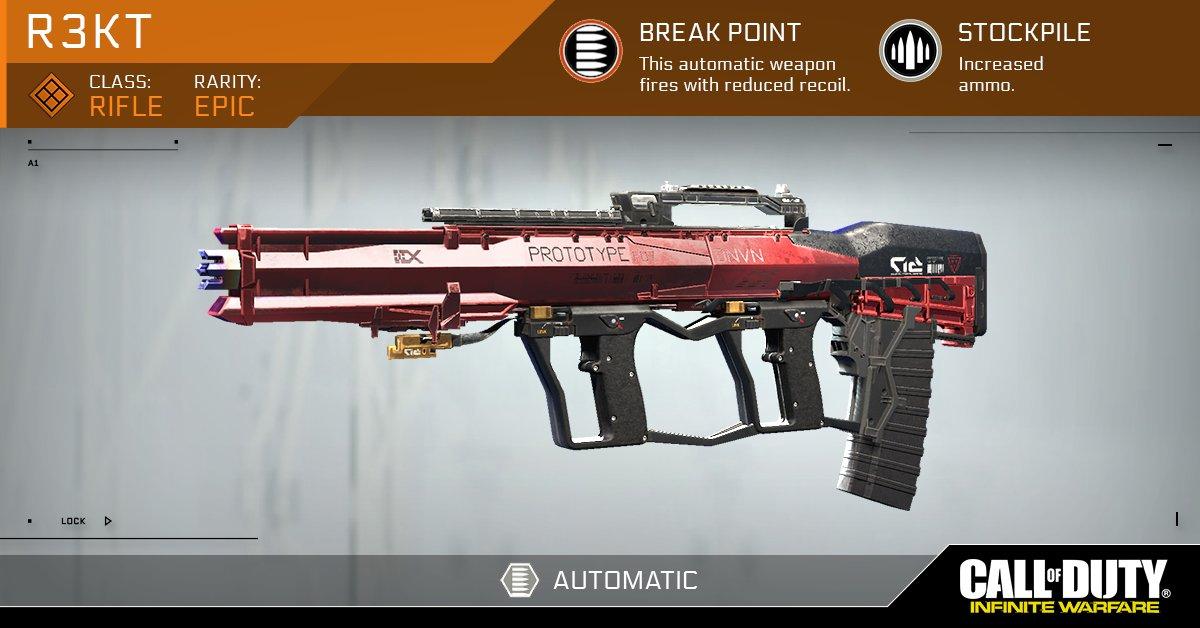 Arme Prototype le crafting des armes infinite warfare - millenium
