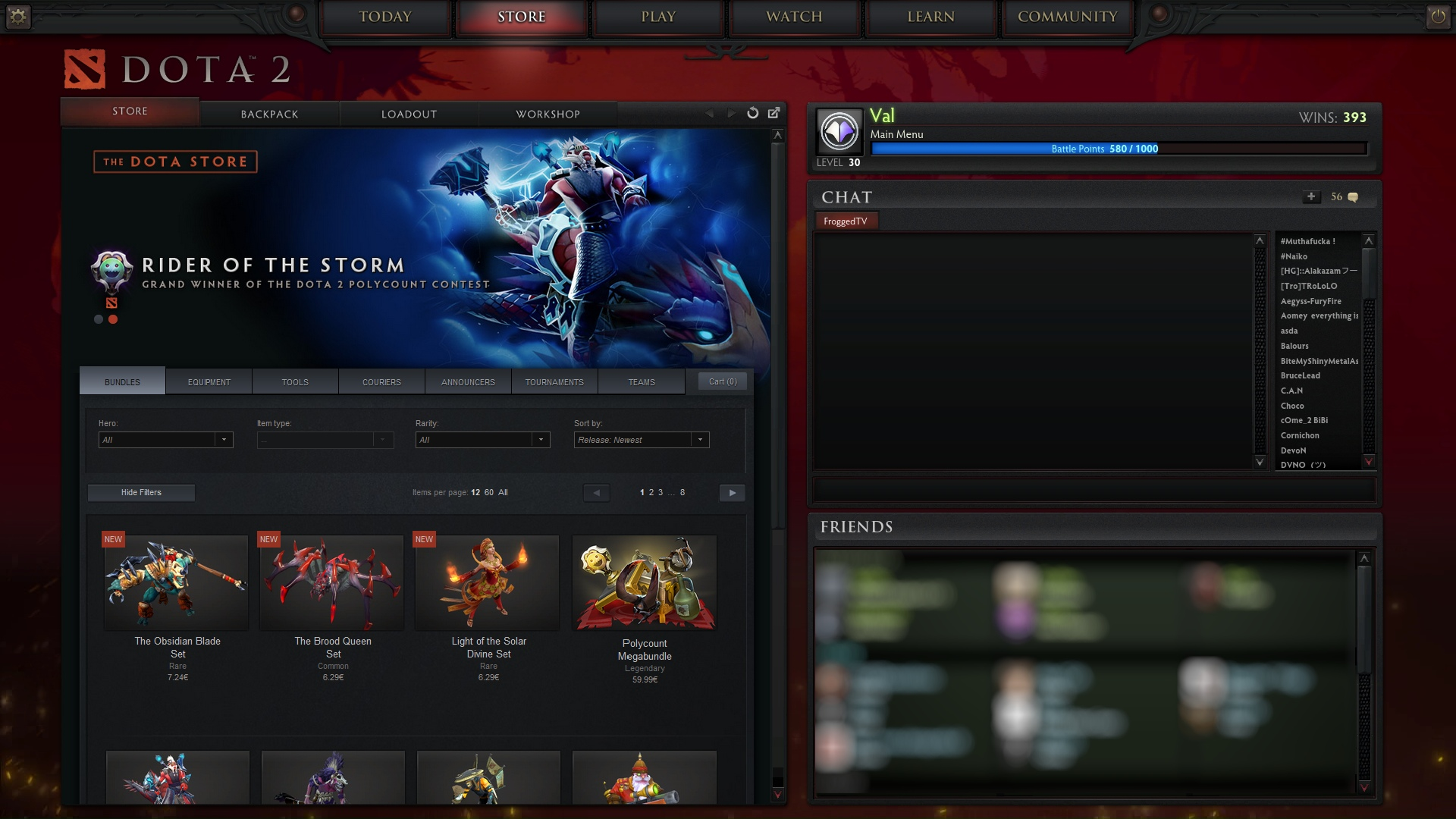 dota 2 how to get to items in main menu