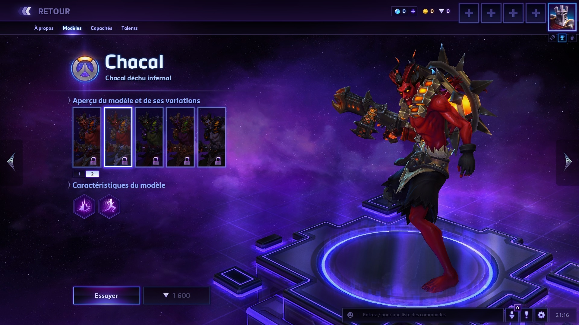 Chacal Build Hots