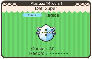 Le Défi Super de Regice revient sur Pokémon Shuffle !