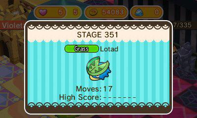 De nouveaux niveaux dans une mise à jour de Pokémon Shuffle