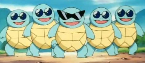 Le gang des Carapuces dans la saison 1 de l'anime