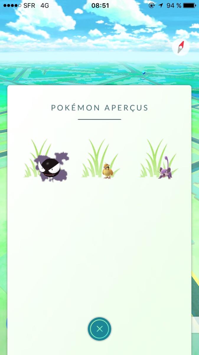 Pokémon aperçus