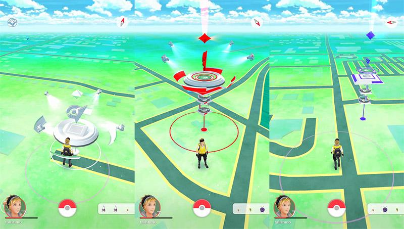 Des arènes dans Pokémon GO