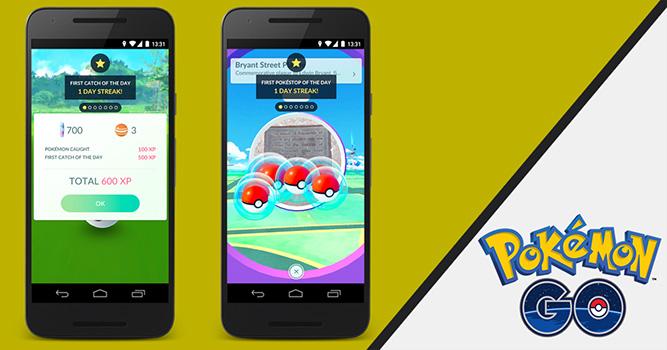 Des récompenses quotidiennes dans Pokémon GO
