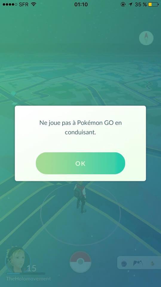 Exemple de texte de prévention ajouté au lancement du jeu