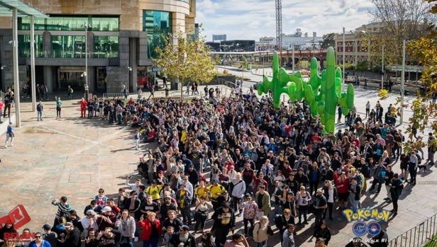 la foule à Perth