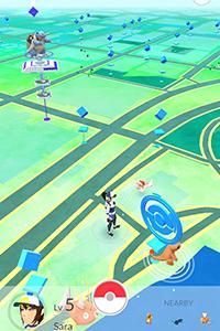 la map gps de pokemon go