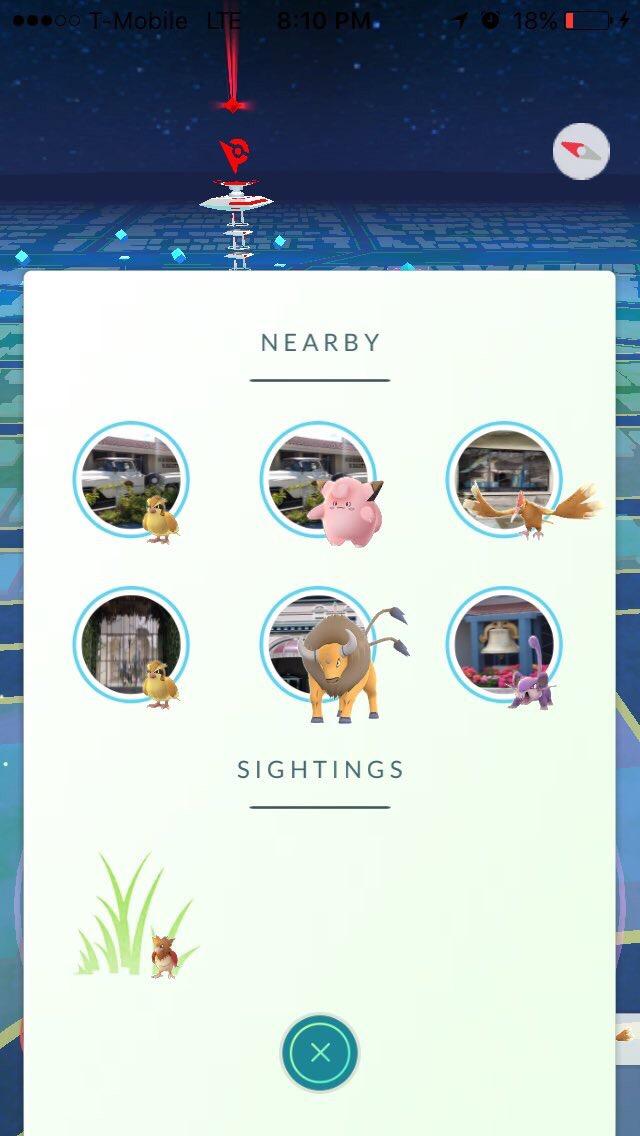 Pokémon proches de Pokéstops alentours