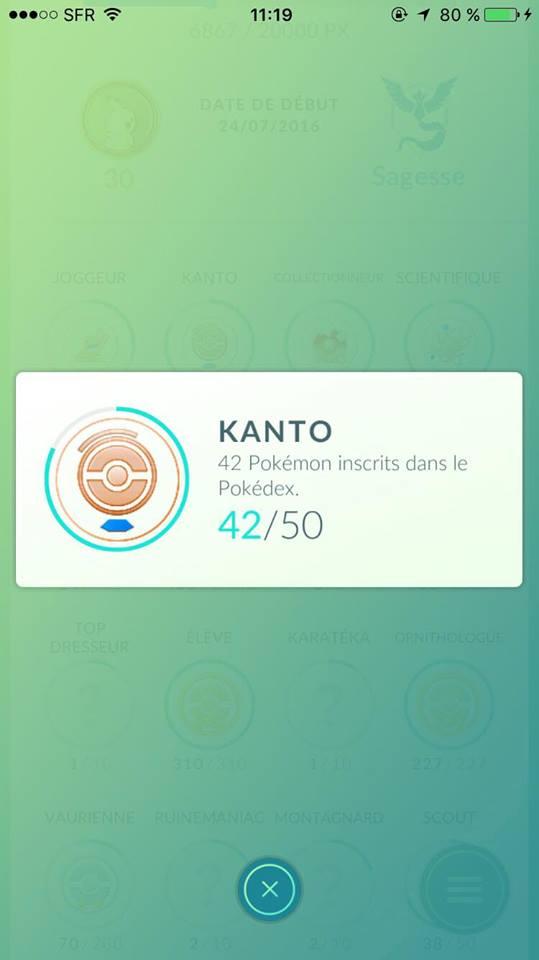 Le succès Kanto