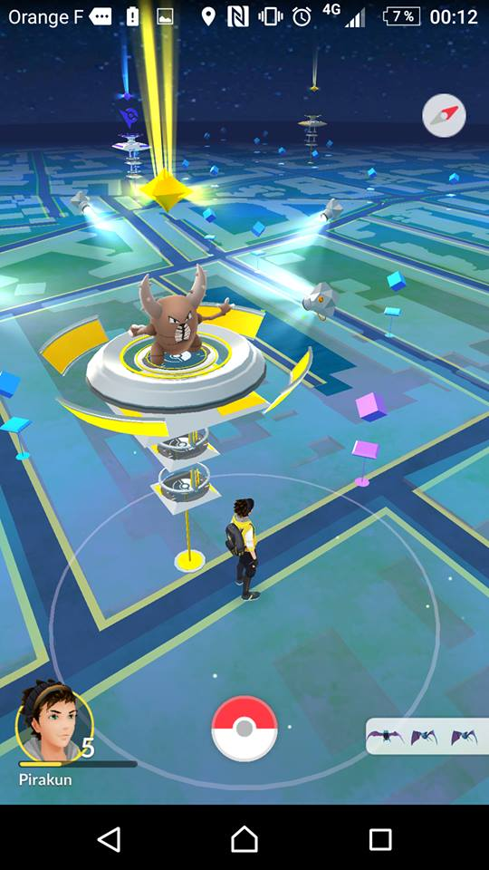 une arène dans Pokémon GO