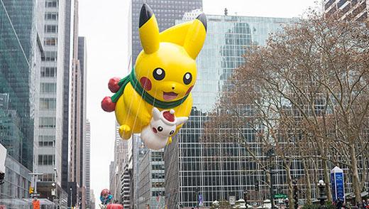 Pikachu à la parade de Thanksgiving de New York