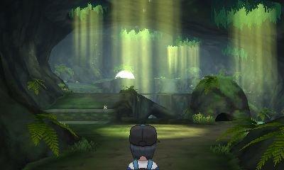 Le personnage principal arrive dans une grotte