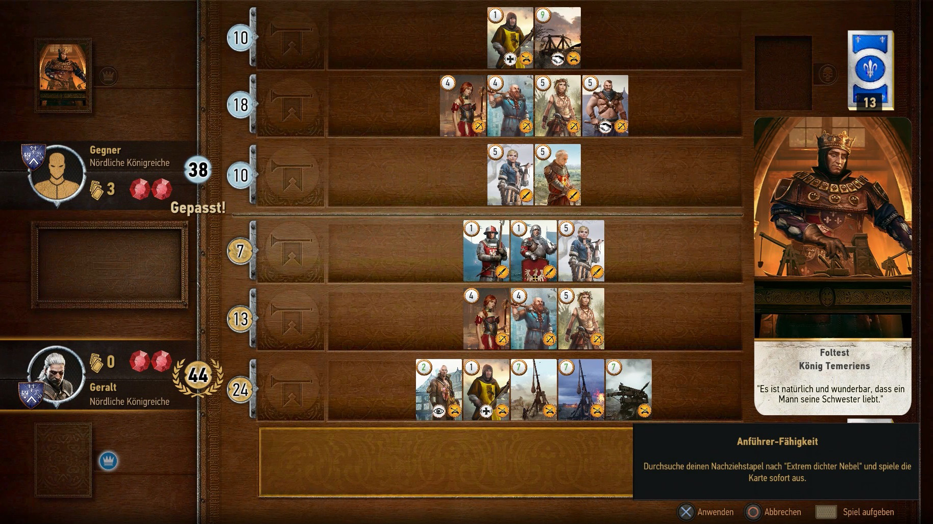 gwynt jeu de carte The Witcher 3 : Gwynt   Millenium