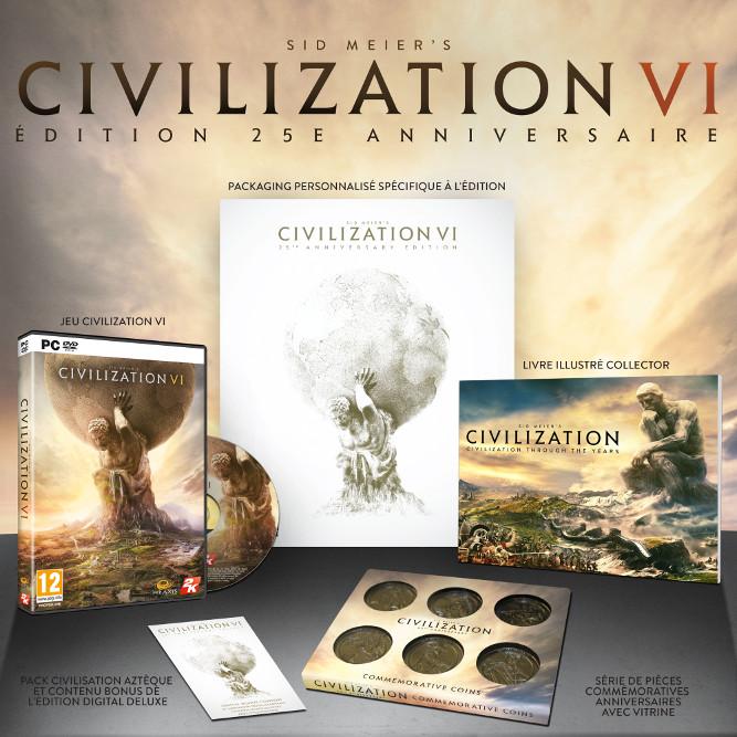 Civilization 6 : édition collector anniversaire