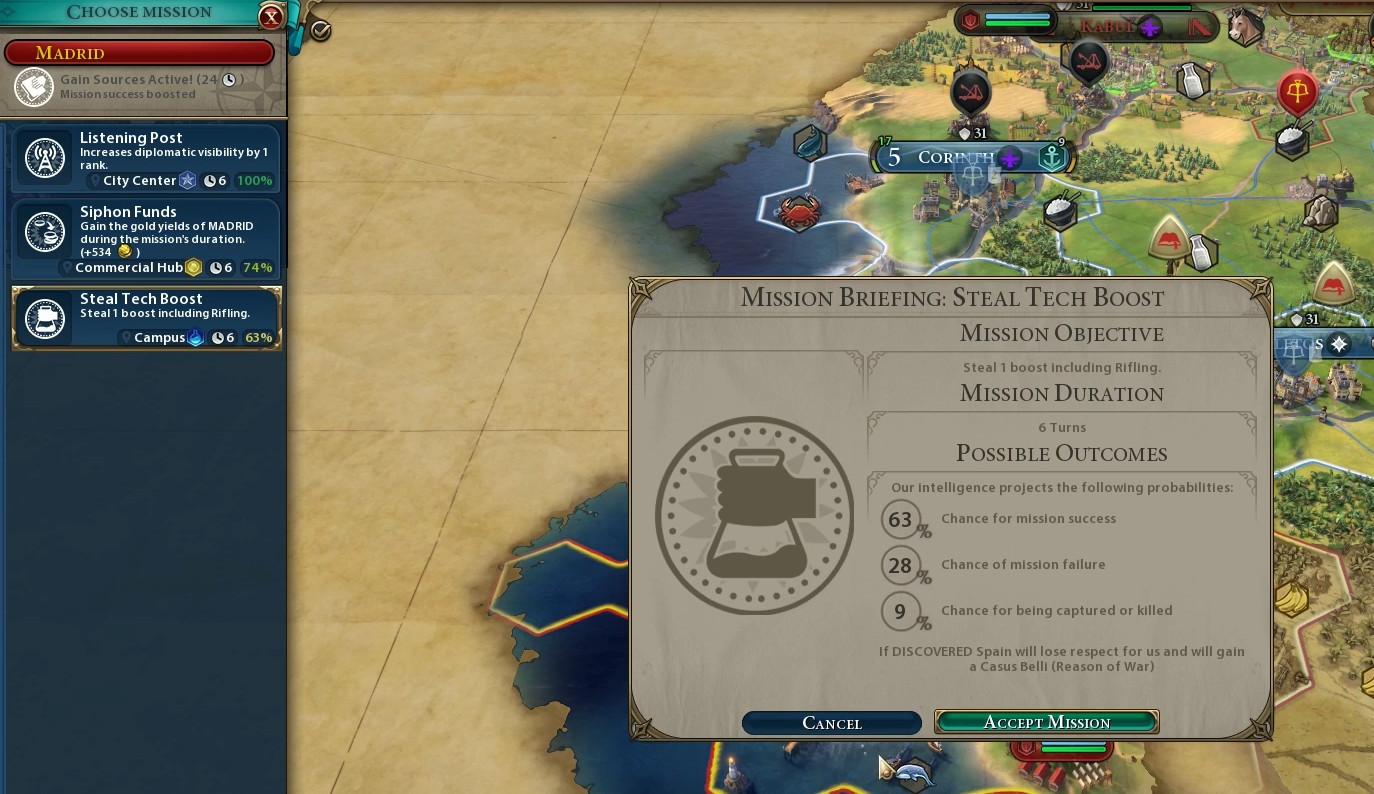 Civilization 6 : Espionnage