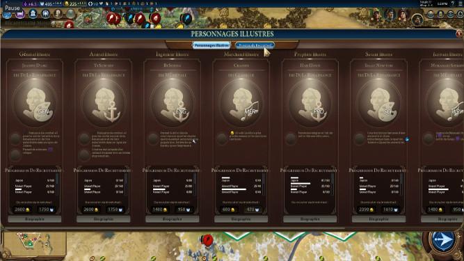 Civilization 6 : Personnages illustres