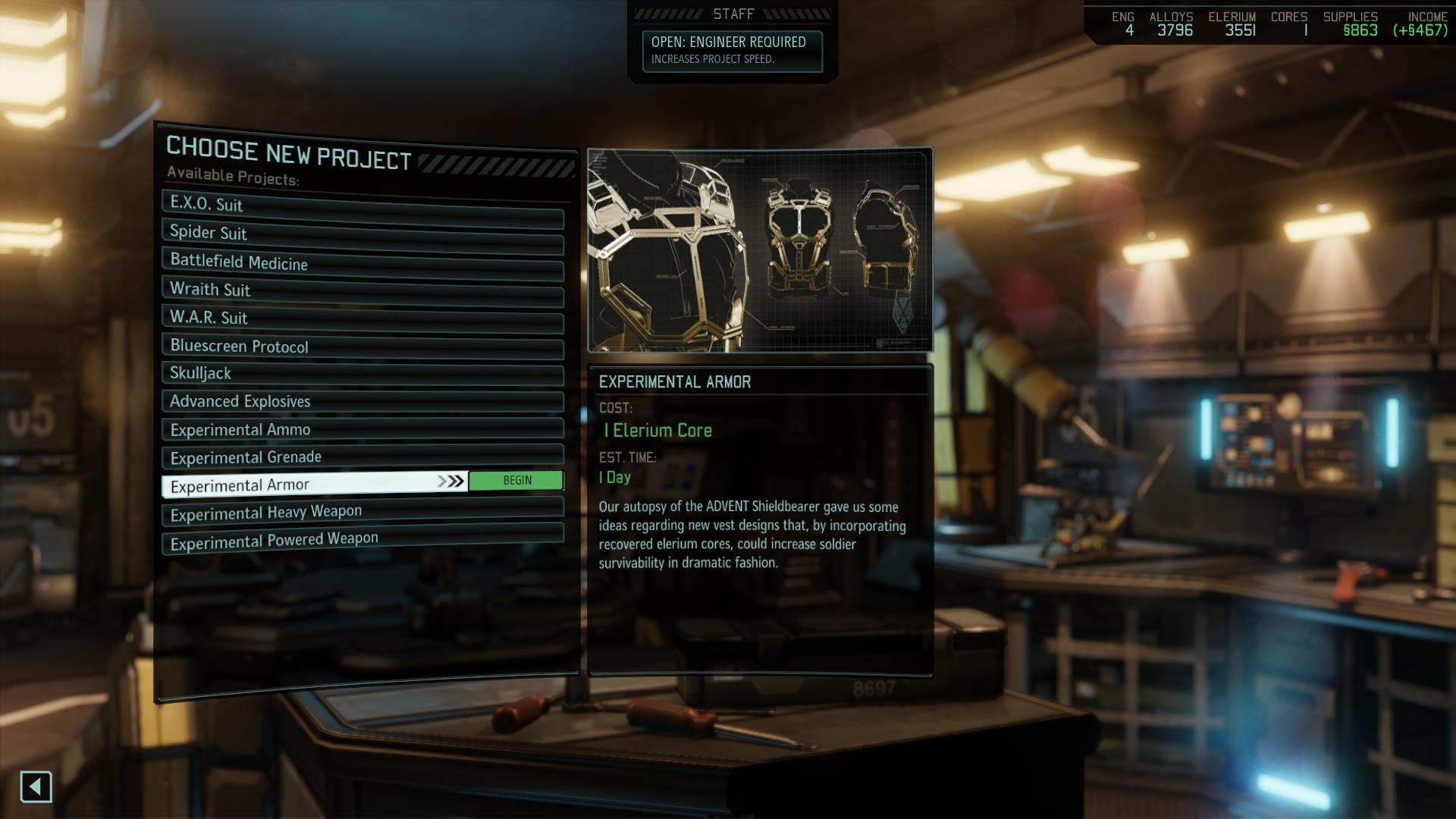XCOM 2 équipement