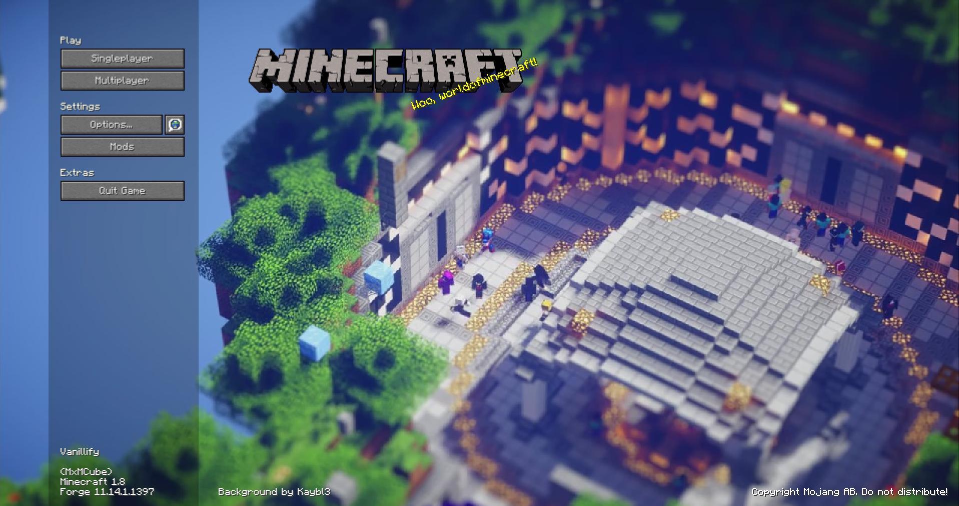 Mod Minecraft Custom Main Menu Millenium