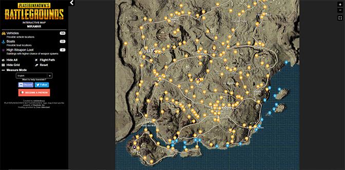 Playerunknown S Battlegrounds Maps Loot Maps Pictures: PUBG : Miramar, Carte, Map, Désert