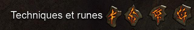 Diablo III : Techniques et runes