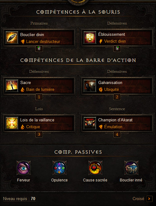 Diablo  Build Akkhan Bouclier