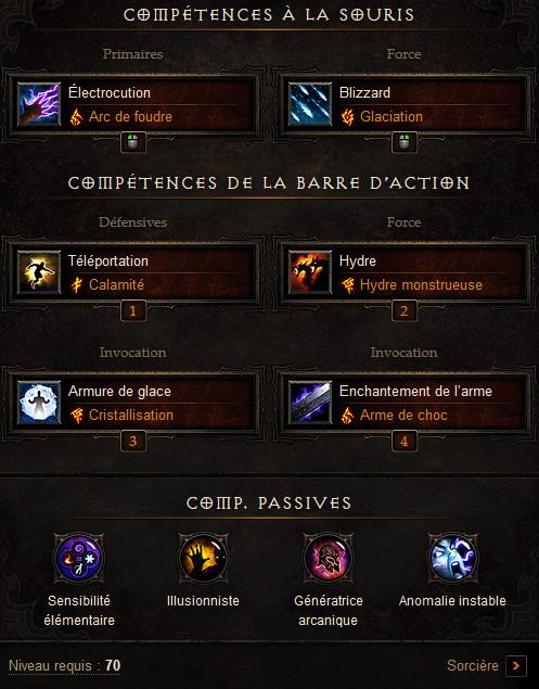 Diablo  Build Sorcier