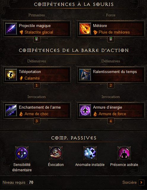 Diablo  Build Sorcier Degats