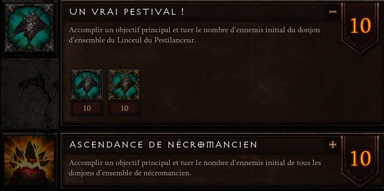 Diablo 3 Hauts Faits Nécromancien