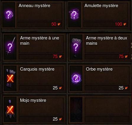 Objets mystères