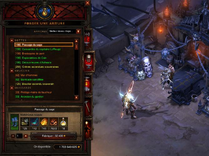 Recettes d'artisanat de Diablo 3