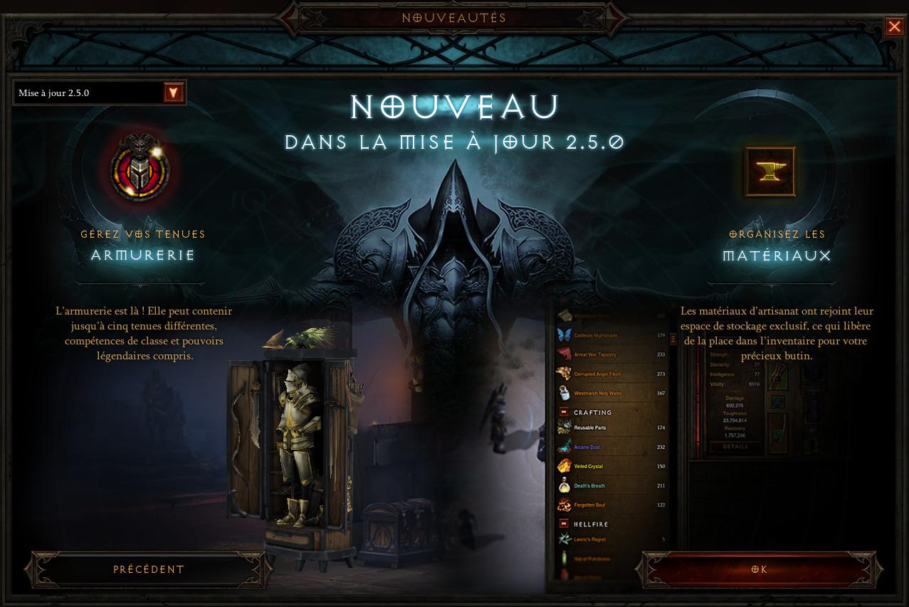 Diablo 3 Patch 2.5.0 récap