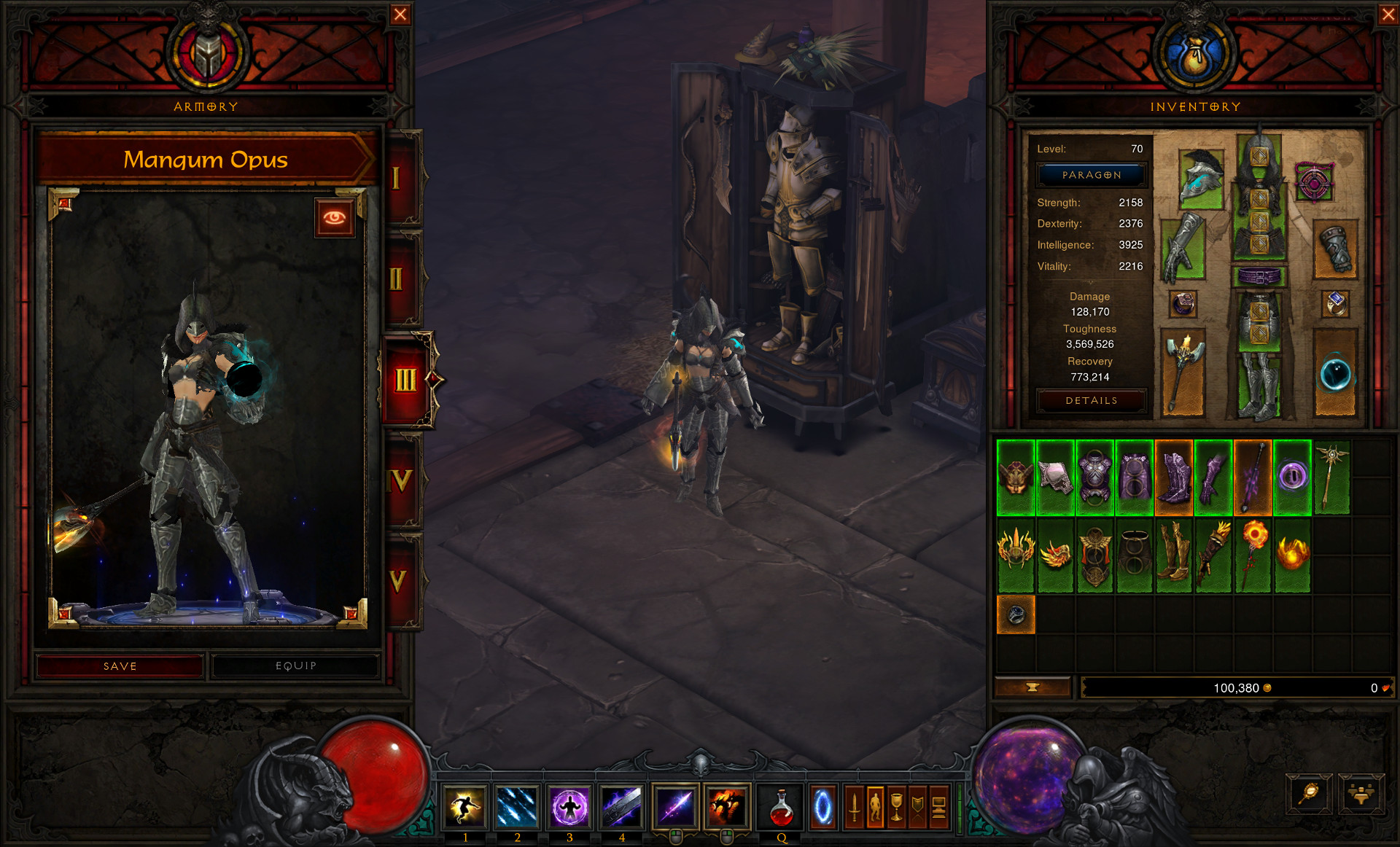 Diablo 3 Gestion d'armure