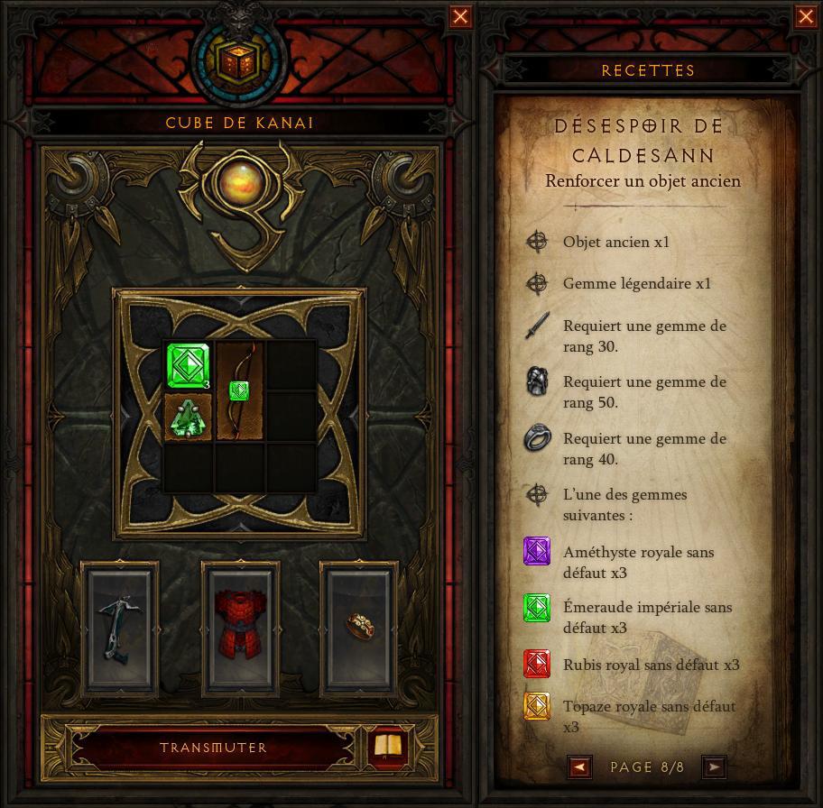 Diablo 3 - Recette Cube de Kanai 2.4