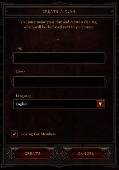 Clan et Clubs de Diablo 3 Reaper of Souls