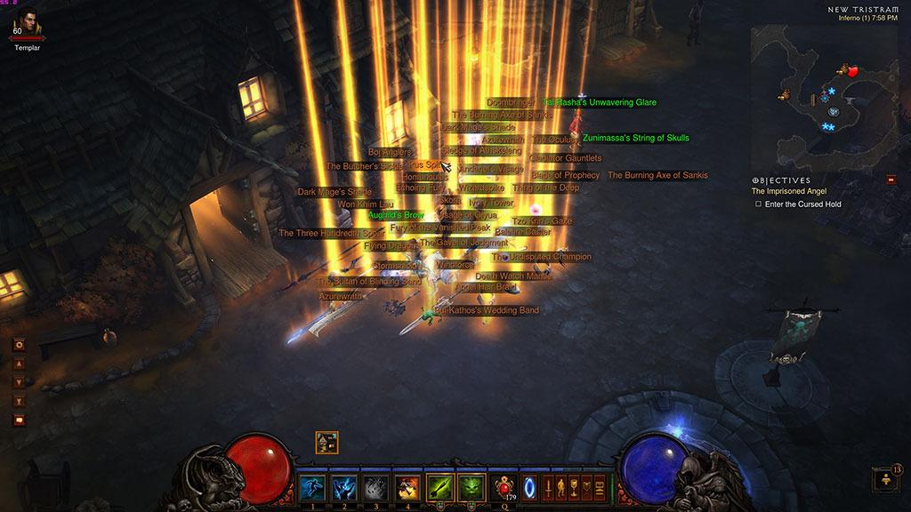 Objets légendaires Diablo 3