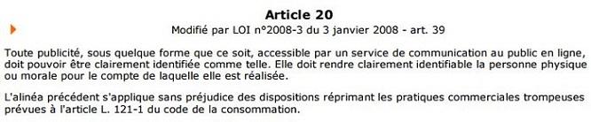 Article loi numérique