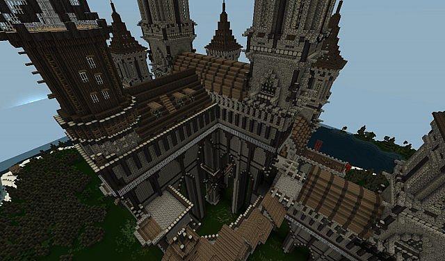 Castle towers millenium - Chateau de minecraft ...