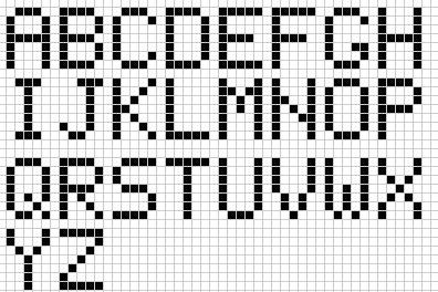 Ecrire En Pixel Art Millenium