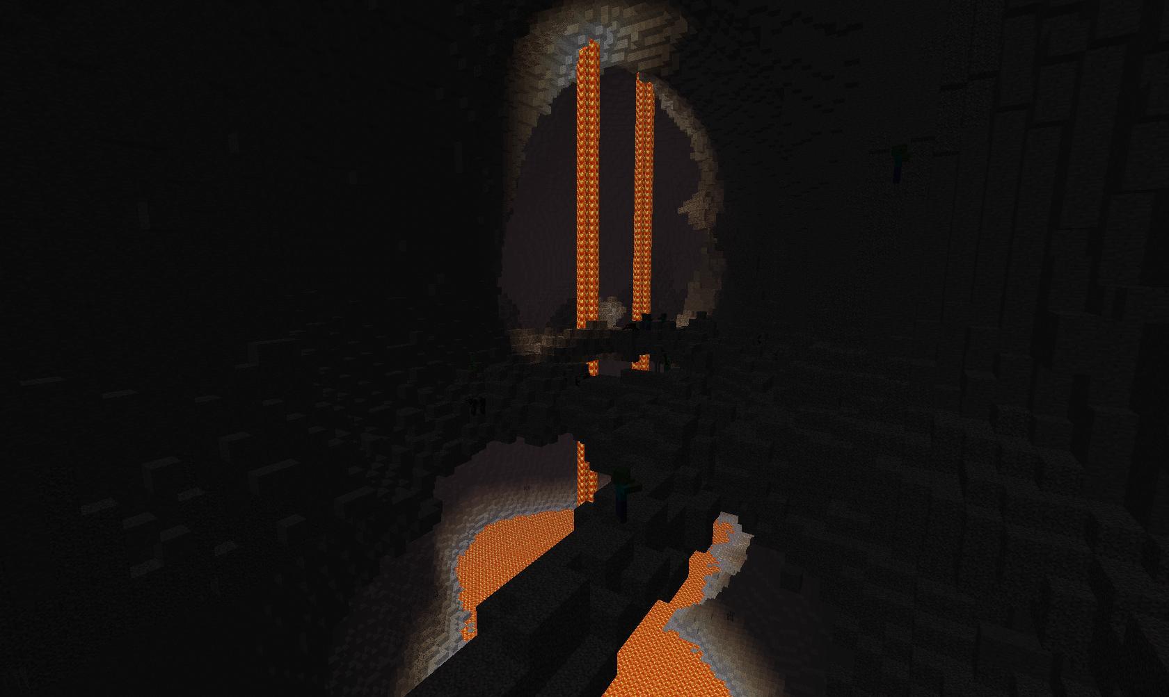 карты для майнкрафт прохождение в пещере #9