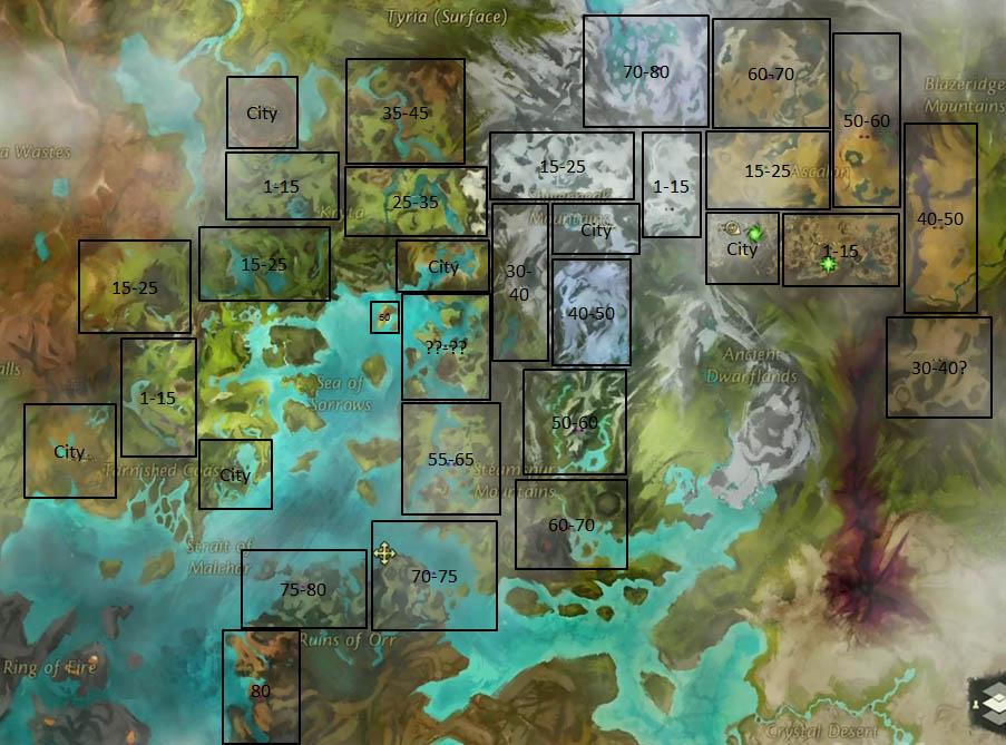 Guild Wars 2 Carte Du Monde | casamagenta