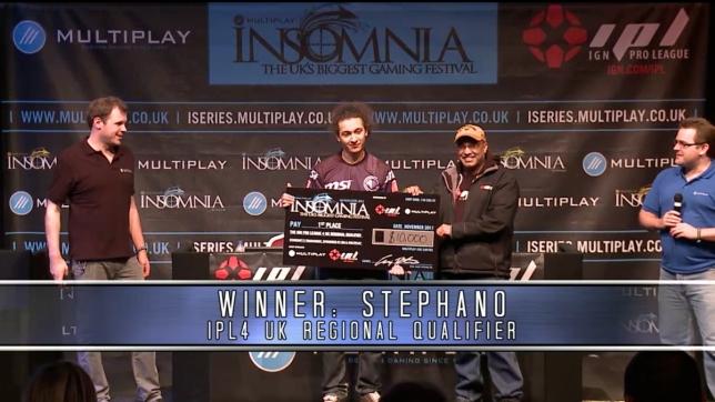 Stephano remporte l'IPL 4 UK