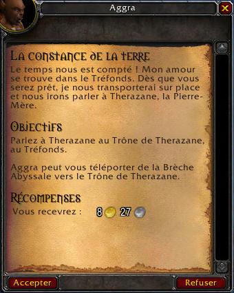 Les quêtes de Thrall du Patch 4.2
